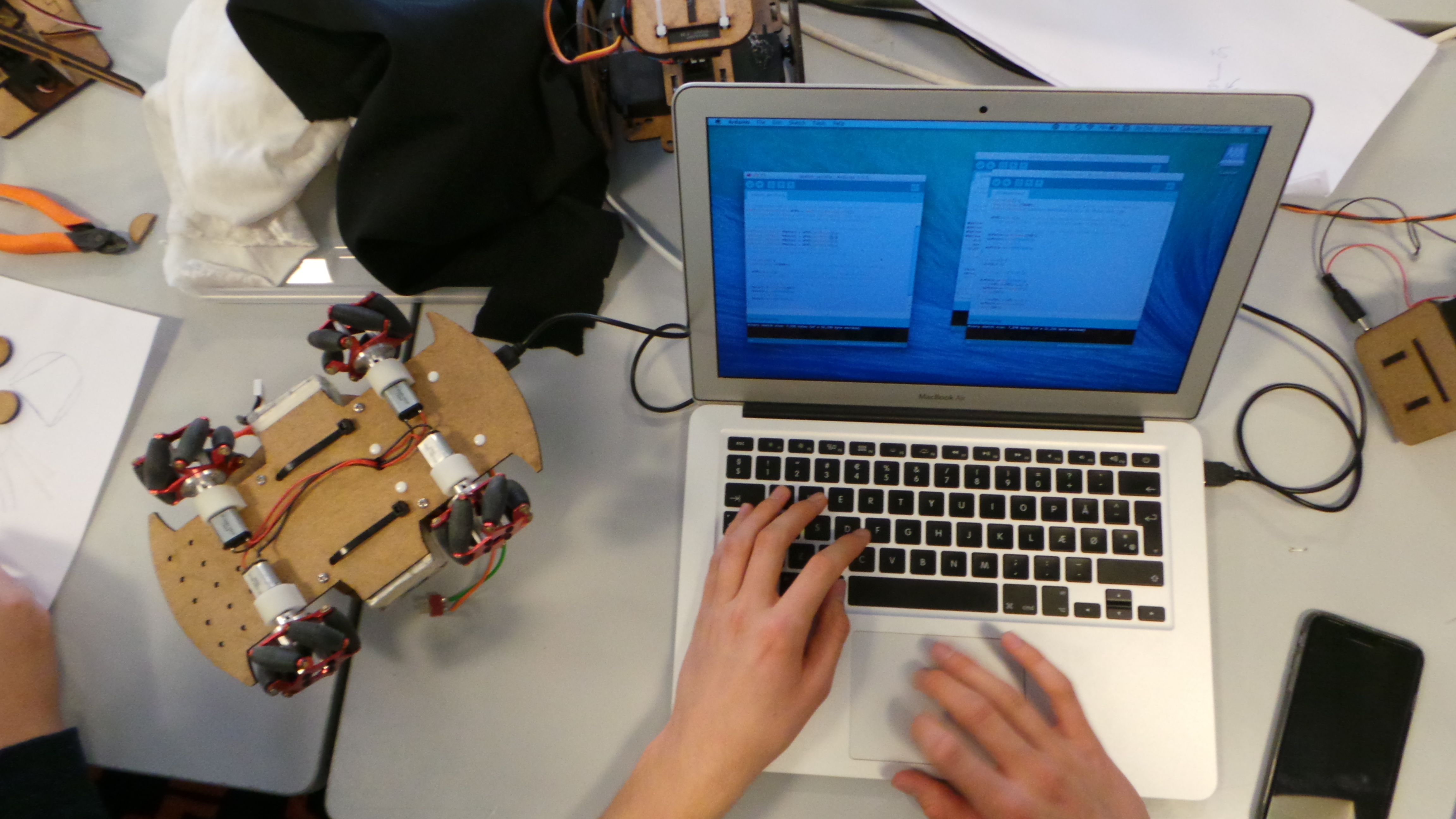 Creative programming and electronics workshops