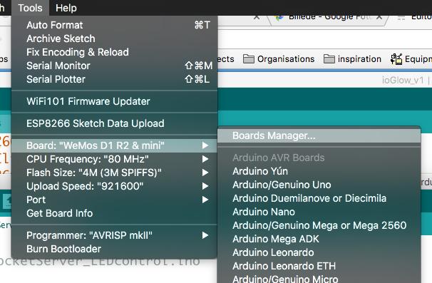 ioGlow: Webinterface enabled neopixel string