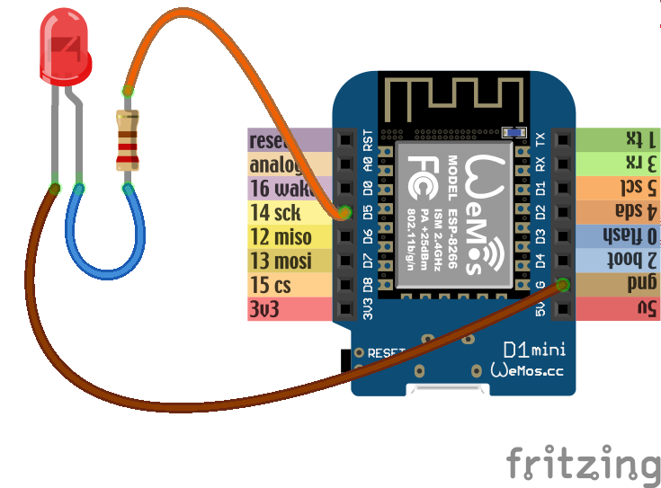 Wemos toturial: Basic input and output