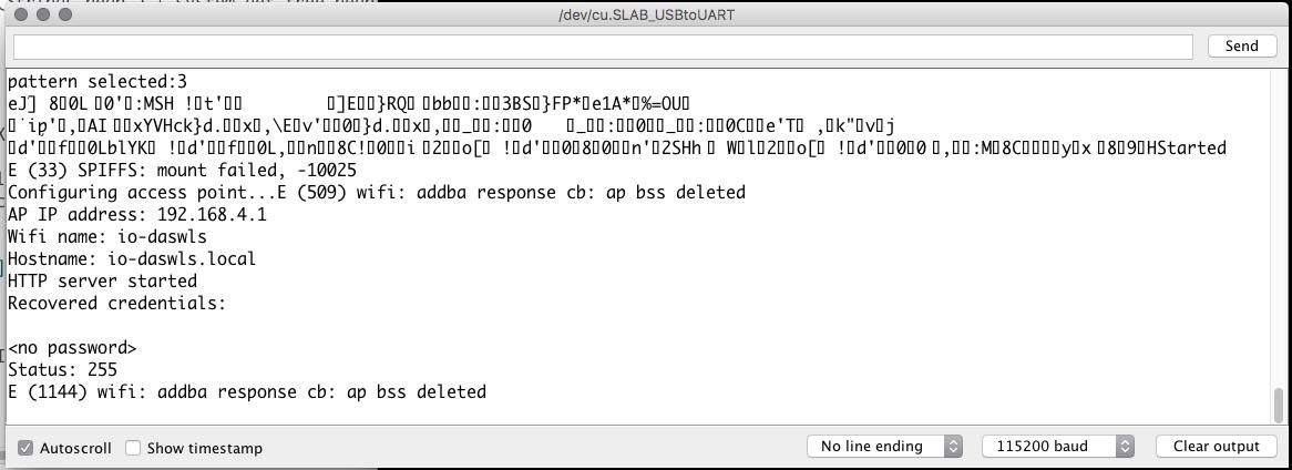 ioGlow - esp32: Webinterface enabled neopixel string
